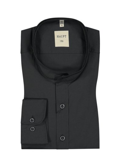 Formal shirt with standing collar v BLACK