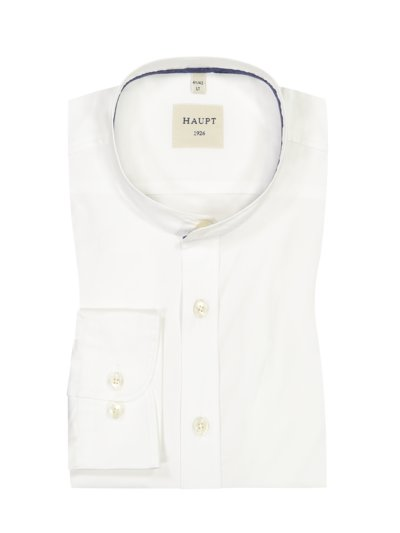 Formal shirt with standing collar, extra long sleeves v WHITE