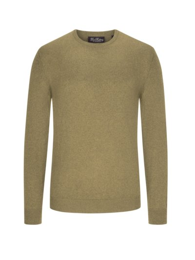 Pullover, O-Neck, im Baumwoll-Mix in GRUEN