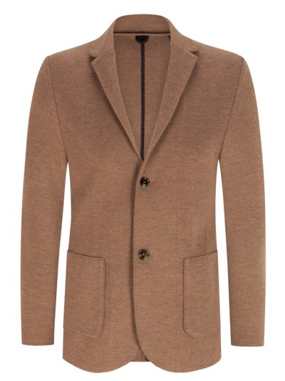 Strickblazer in reiner Schurwolle in BRAUN