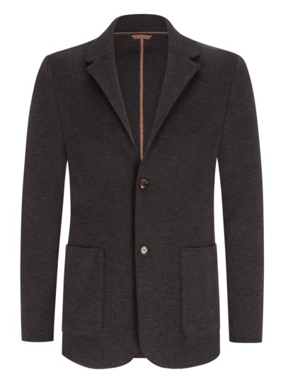 Knit blazer made of pure virgin wool v ANTHRACITE