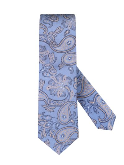 Tie with paisley pattern v LIGHT BLUE