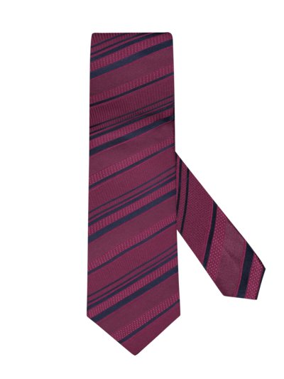 Tie with stripe pattern v RED