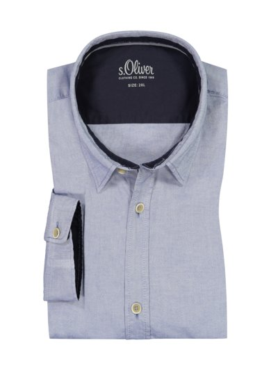 Casual shirt with stretch content v BLUE
