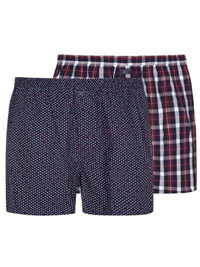 2-pack of boxer shorts with pattern v BLUE