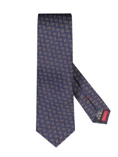 Silk tie with a stylish pattern v YELLOW