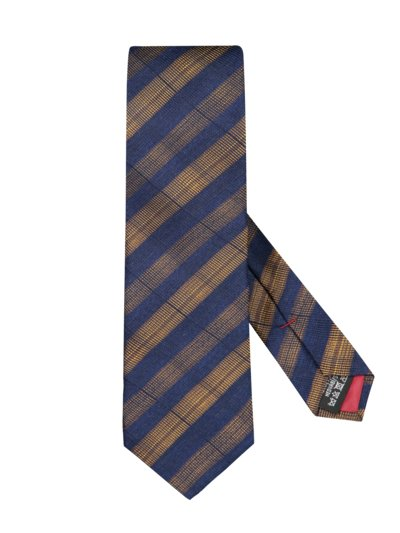 Tie with stripe pattern v YELLOW