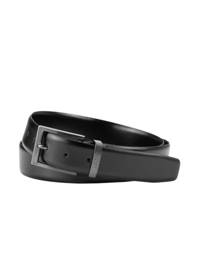 Belt with metal loop v BLACK
