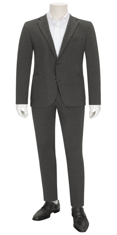 Suit separates suit in jersey fabric v GREY