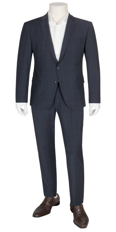 Suit separates suit with grid check pattern v MARINE