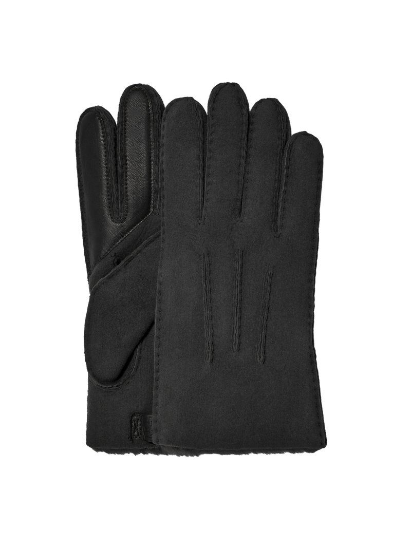 Ugg Shearling gloves, water-repellent LIGHT BROWN in plus size