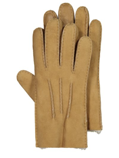 Shearling gloves, water-repellent v LIGHT BROWN