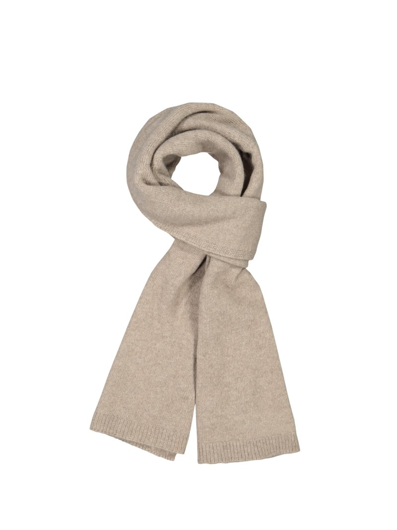 Dante Cashmere scarf BROWN in plus size