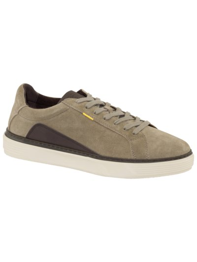Stylish leather sneakers v BROWN