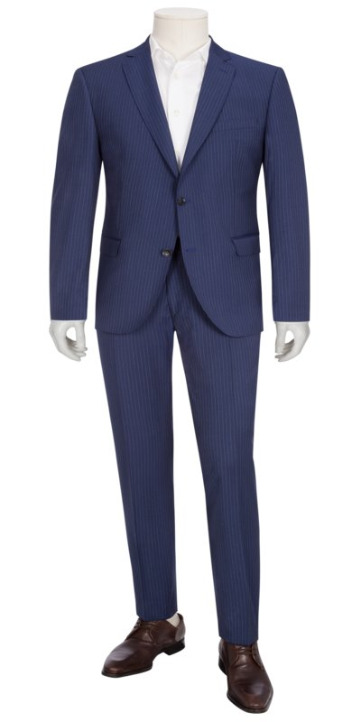 Suit separates suit with pinstripes v MARINE