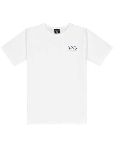 T-Shirt mit Logo-Print, extralang in WEISS