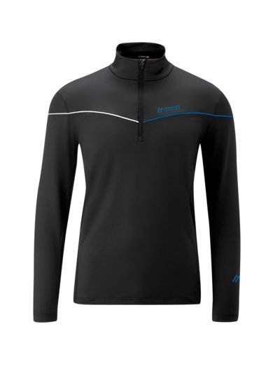Sweatshirt in a Troyer style, Dryprotec v BLUE