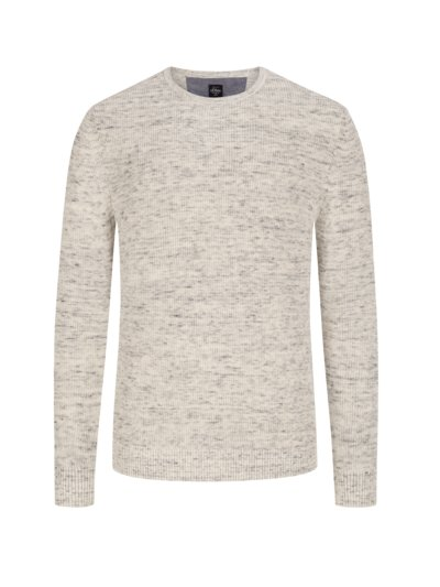 Sweater in cotton knit v PUTTY