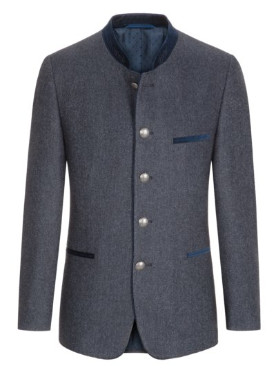 Traditional jacket in a wool blend v BLUE