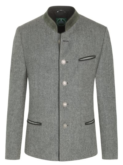 Traditional jacket with micro texture v GREY