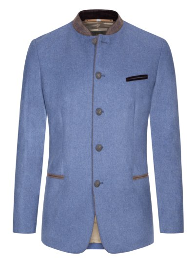 Traditional jacket in a virgin wool blend v LIGHT BLUE