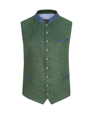 Traditional waistcoat with diamond pattern v GREEN