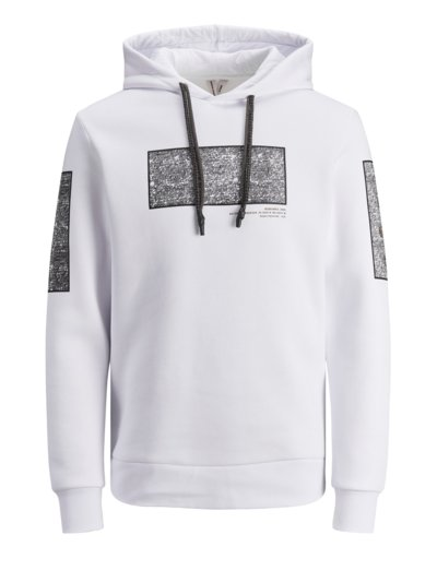 Sweatshirt with hood v WHITE