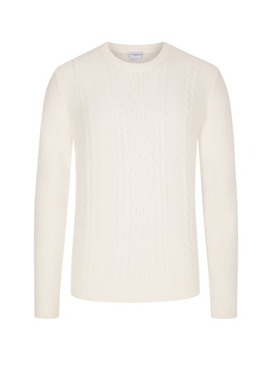 Cotton blend sweater v OFF WHITE