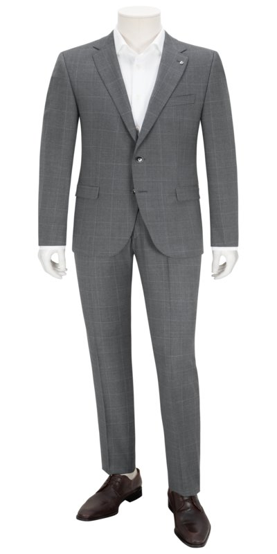 Suit separates suit with windowpane check pattern v GREY