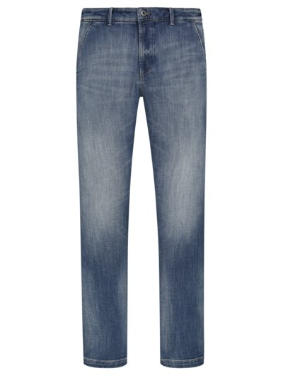 - Denim chinos with stretch content v BLUE