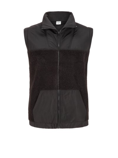 Gilet with soft teddy fleece v BLACK