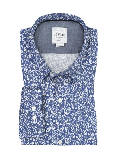 Shirt with pattern v LIGHT BLUE