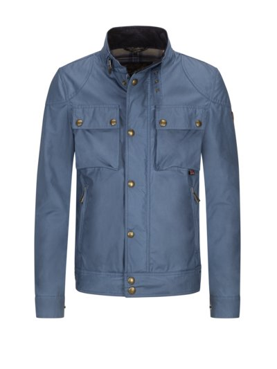 Biker-look casual jacket, Racemaster v BLUE