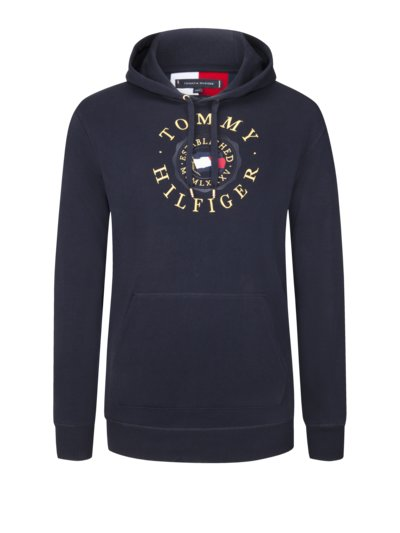 Sweatshirt with embroidered logo v MARINE