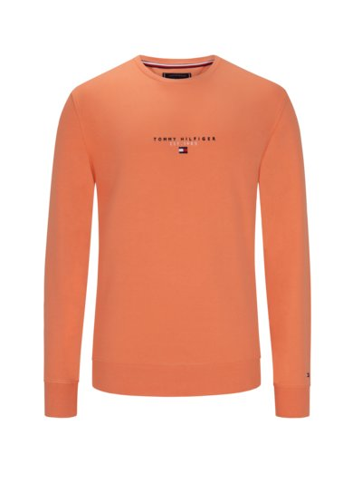 100% cotton sweatshirt v ORANGE