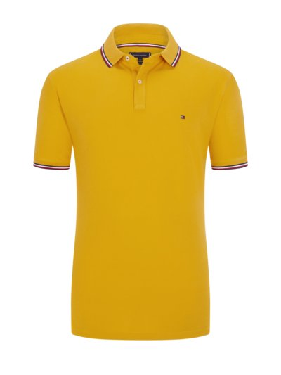 Polo shirt with contrast stripes v YELLOW