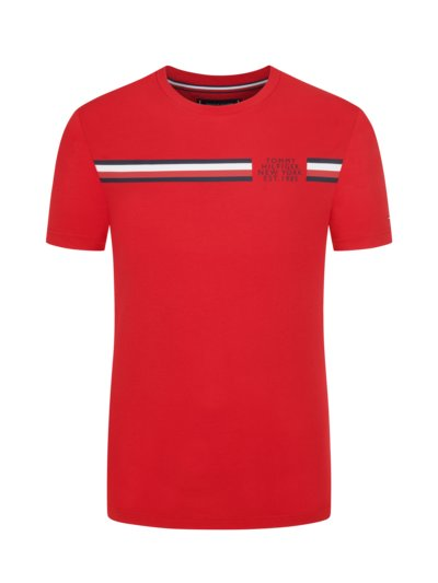 T-shirt with front print v RED