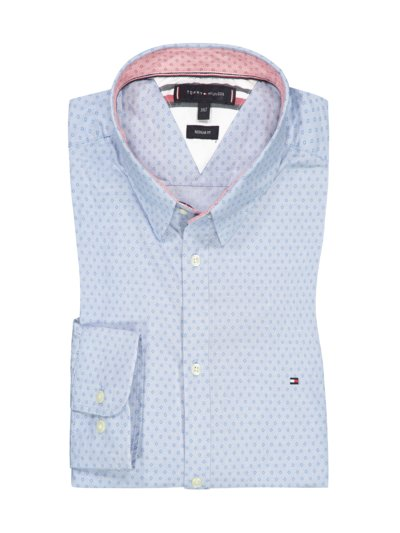 Shirt with pattern, Regular Fit v LIGHT BLUE
