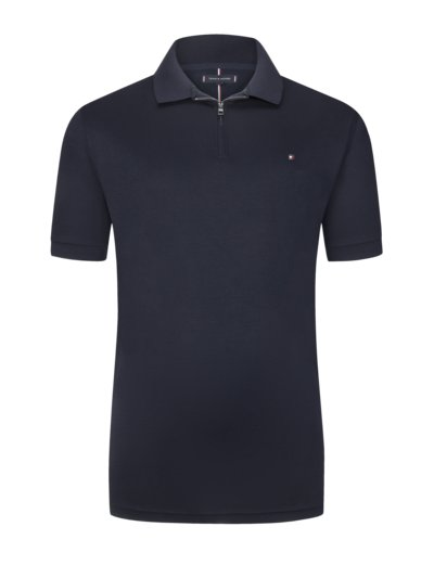 Polo shirt with zip v MARINE