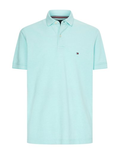 Polo shirt with micro texture v LIGHT BLUE
