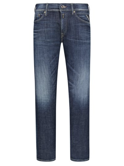 Jeans with a stylish washed effect and stretch content v MARINE