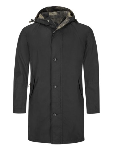 Stylish reversible parka v BLACK