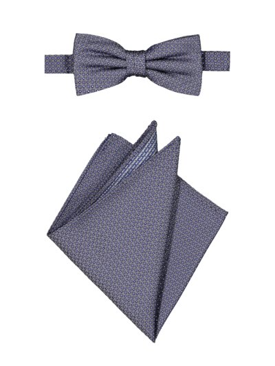 Accessory set with bow tie and pocket kerchief v BLUE