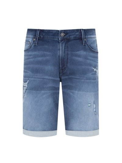Denim Bermuda shorts in a cotton blend v BLUE