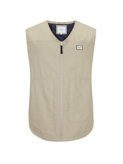 Gilet made of cotton canvas v BEIGE
