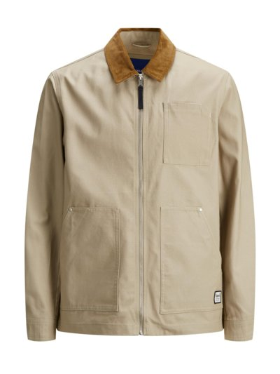 Casuals canvas jacket v BEIGE