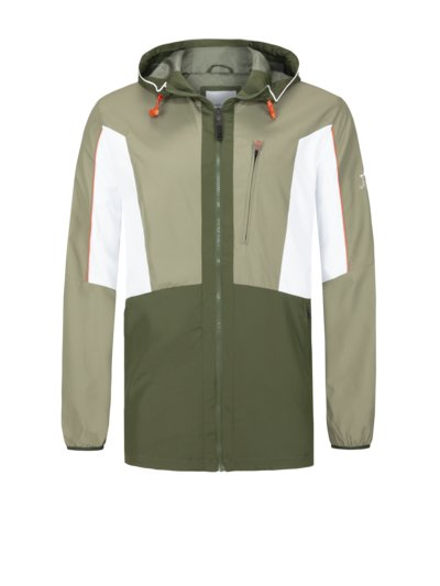 Casual jacket with colour block design v GREEN