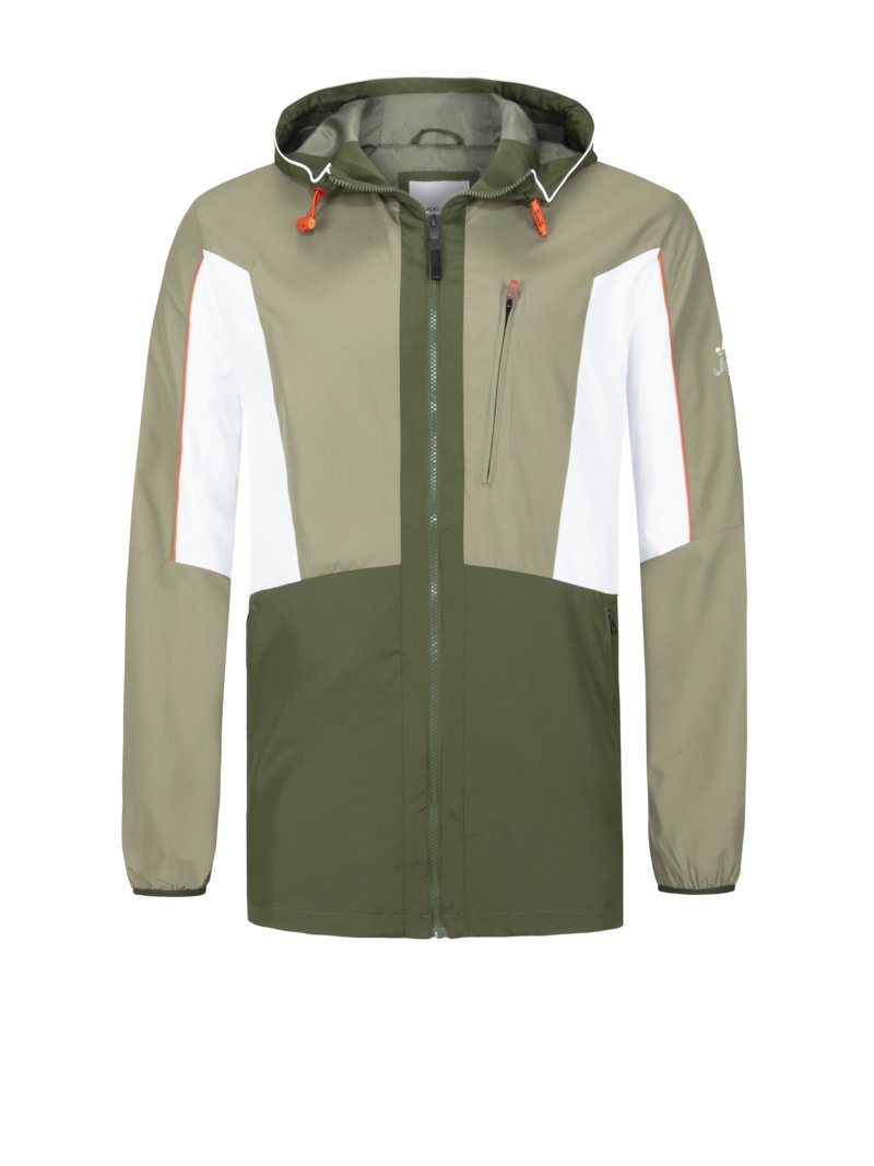 Jack & Jones Casual jacket with colour block design GREEN in plus size