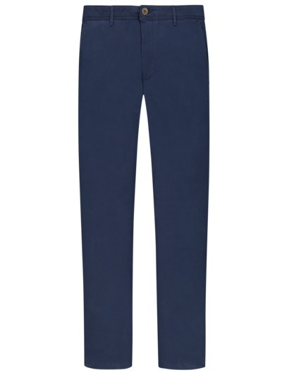 Cotton chinos with stretch content v BLUE