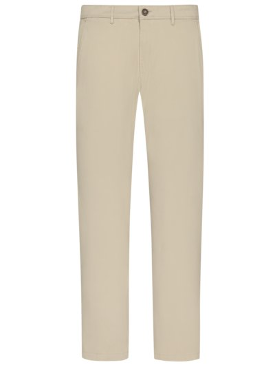 Cotton chinos with stretch, Marco v BEIGE